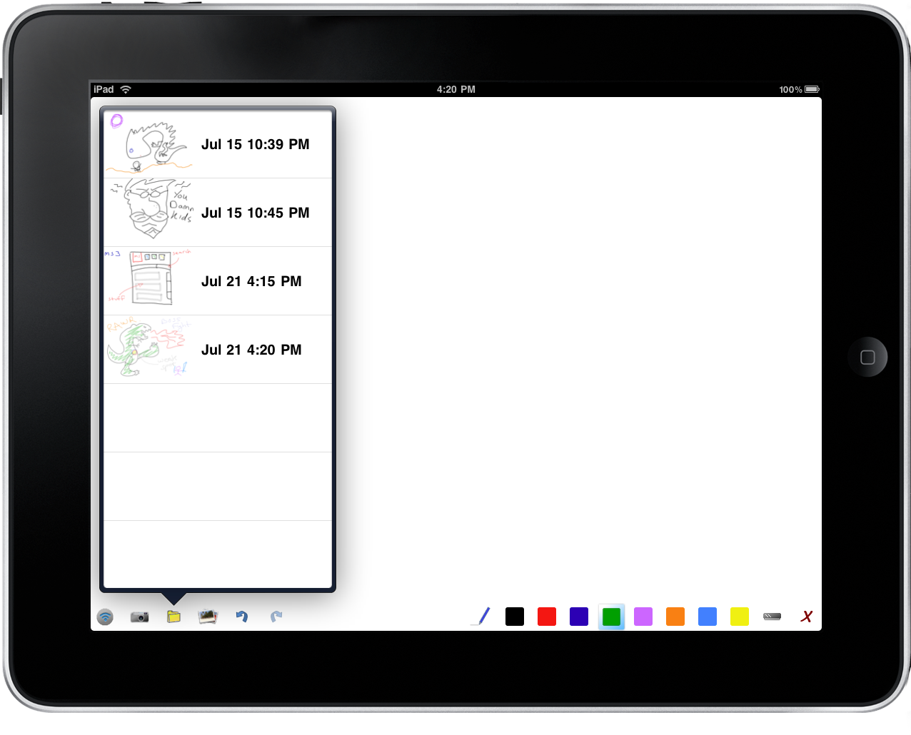 AirSketch Saved Images