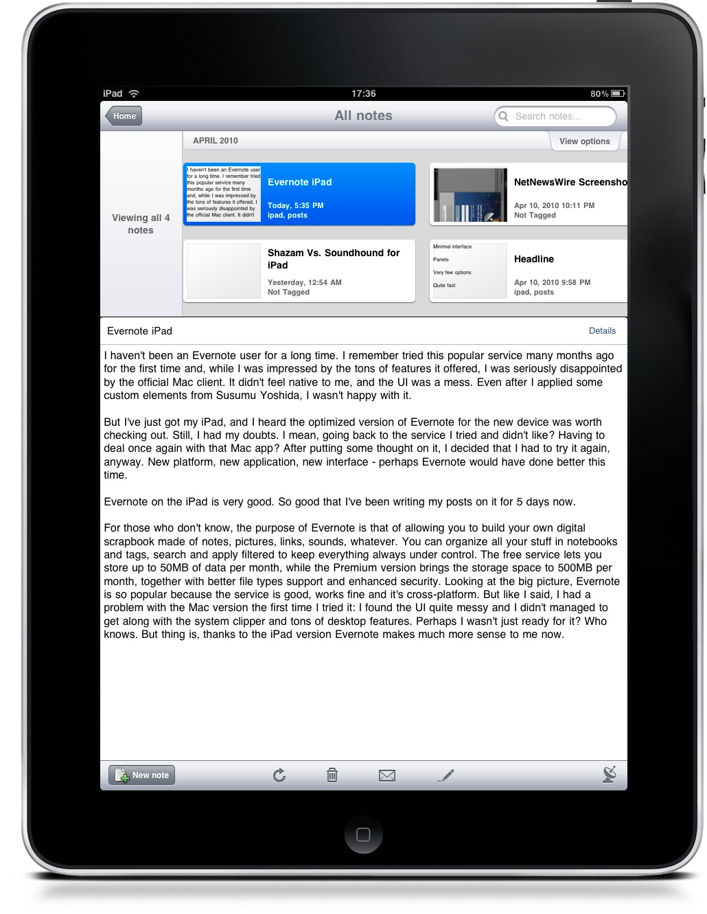 Evernote for iPad