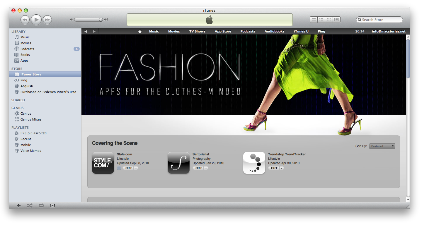 Clothing stores with apps