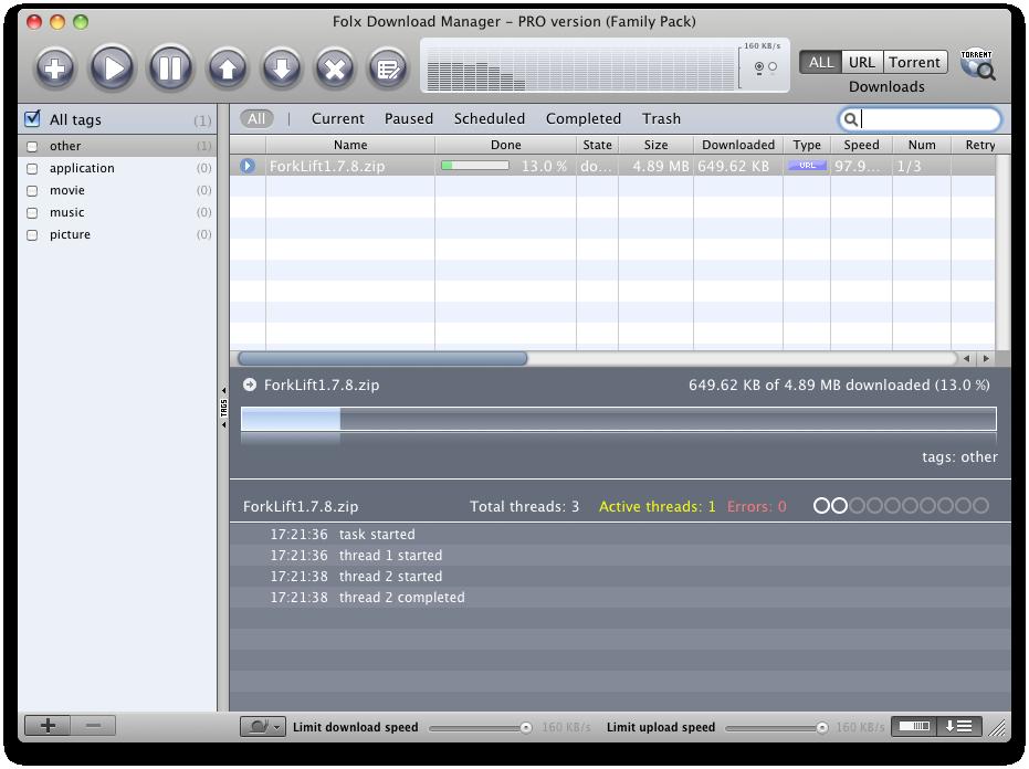Folx Downloading