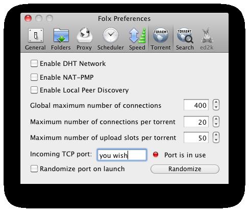 Folx Preferences