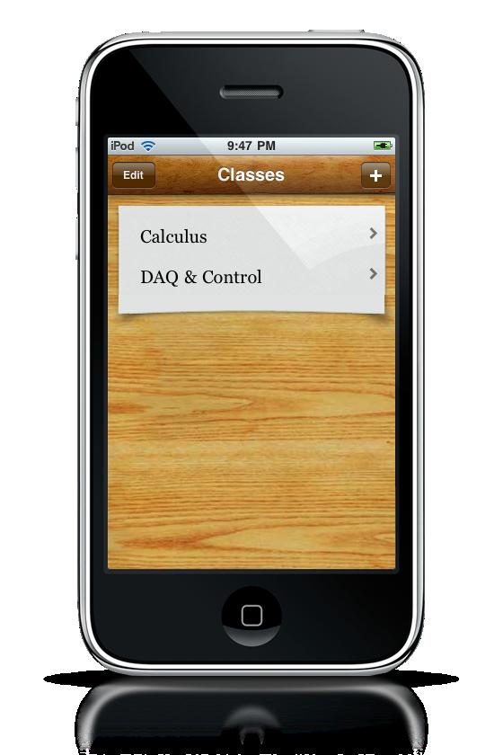 Grades App iPhone