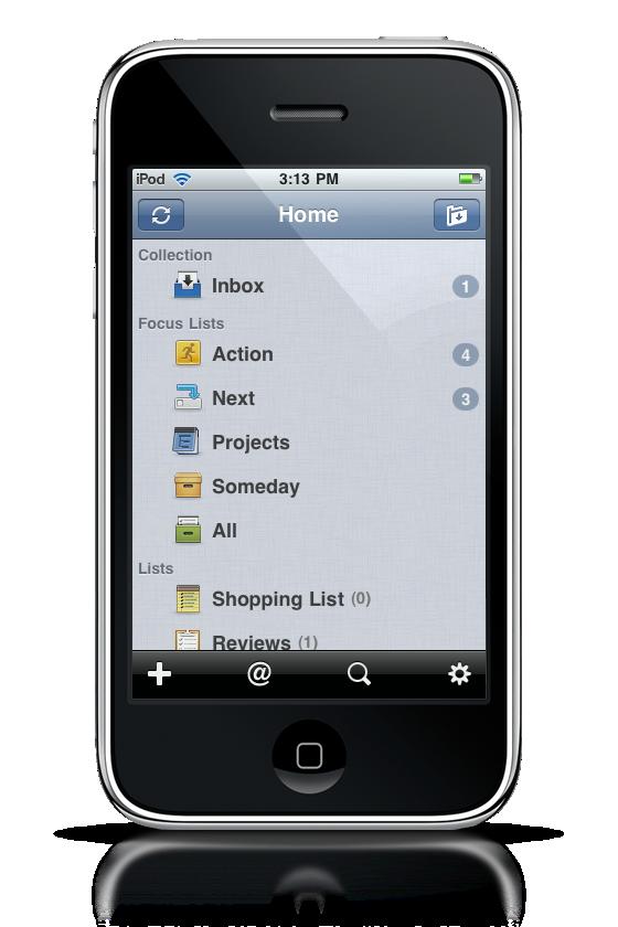 Taska GTD App iPhone