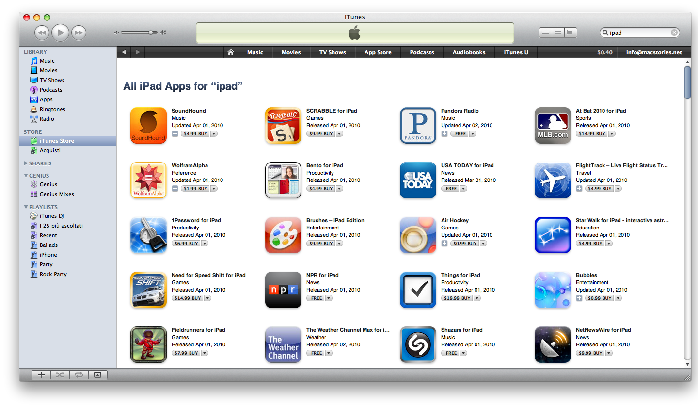 app store for ipad download